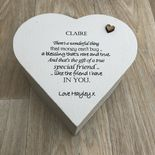 Shabby Personalised Chic Special Best Friends Friendship ANY NAME Heart Box GIFT